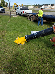 US49 North Water Line is Progressing